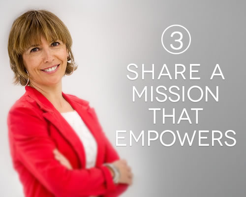 Share a mission that empowers